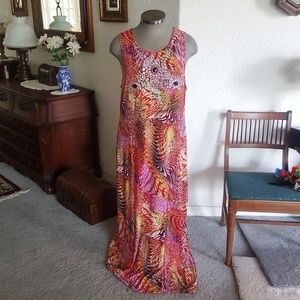 JEWEL ACCENTED * MULTI~COLORED * MAXI~DRESS BBW 3x